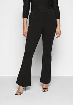 Vero Moda Curve - VMKAMMA FLARED PANT - Stoffhose - black