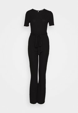 Missguided - SHORT SLEEVE FLARE LEG - Combinaison - black