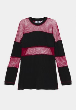 The Ragged Priest - FISHNET SKATER DRESS - Trikoomekko - black/red