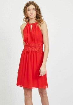 Vila - VIMILINA HALTERNECK - Cocktailkleid/festliches Kleid - mars red