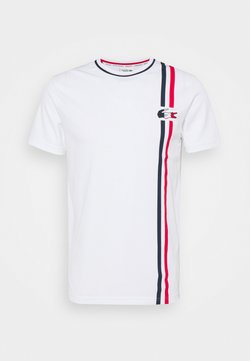 Lacoste Sport - OLYMP - T-Shirt print - white/navy blue/red