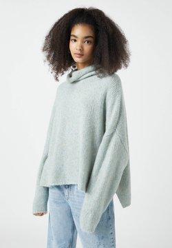 PULL&BEAR - Sweter - light blue