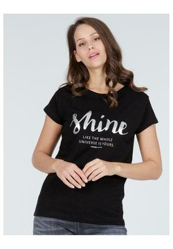 Cross Jeans - T-shirt z nadrukiem - czarny