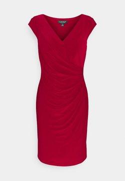 Lauren Ralph Lauren - MID WEIGHT DRESS - Sukienka etui - vibrant garnet