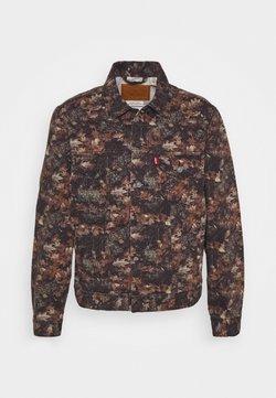 Levi's® - VINTAGE FIT TRUCKER UNISEX - Denim jacket - olive/black/brown