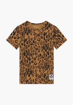 Mini Rodini - BABY BASIC LEOPARD TEE UNISEX - T-shirt print - beige