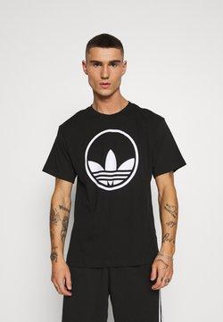 adidas Originals - CIRCLE TREFOIL - T-shirt con stampa - black