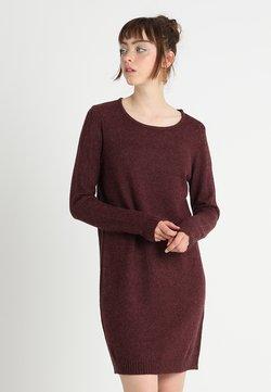 Vila - VIRIL DRESS - Gebreide jurk - winetasting/melange