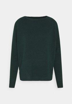 ONLY - ONLELENA BOATNECK - Pullover - green gables/black melange