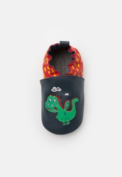 Robeez - HOT DRAGON - Krabbelschuh - marine/rouge