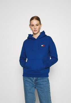 Tommy Jeans - BADGE HOODIE - Sweat à capuche - providence blue
