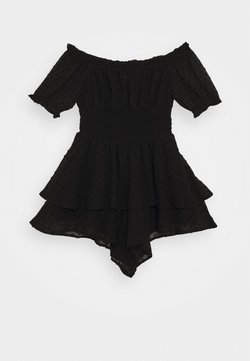 Missguided - DOBBY MILK MAID FLOATY  - Combinaison - black
