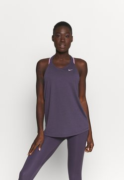 Nike Performance - DRY ELASTIKA TANK - Funktionsshirt - dark raisin/pink glaze
