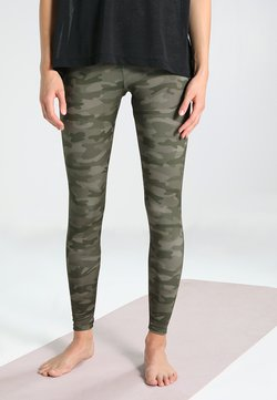 Onzie - HIGH RISE LONG LEGGING - Trikoot - moss camo