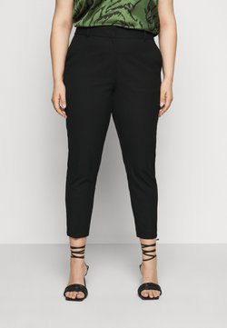 Selected Femme Curve - SLFDRIA CROPPED PANT - Broek - black