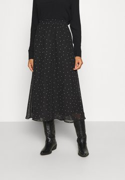 ONLY - ONLTRACY ANCLE SKIRT - Gonna a campana - black