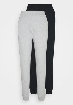 Even&Odd Tall - 2PACK REGULAR FIT JOGGERS - Jogginghose - black/light grey