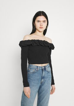 NA-KD - OFF SHOULDER  - Langarmshirt - black