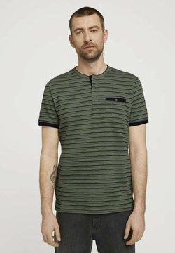 TOM TAILOR - GESTREIFTES - T-Shirt print - sailor blue mint waffle stripe