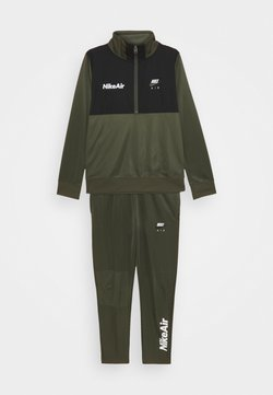 Nike Sportswear - AIR TRACK SUIT SET UNISEX - Survêtement - cargo khaki/black