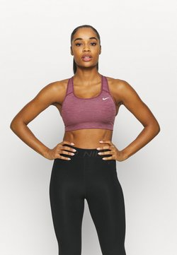 Nike Performance - BRA NON PAD - Sport BH - dark beetroot/pure/white