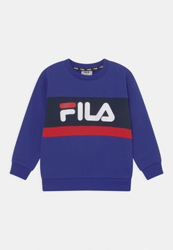 Fila - CARL BLOCKED CREW UNISEX - Sudadera - royal blue/black iris/true red