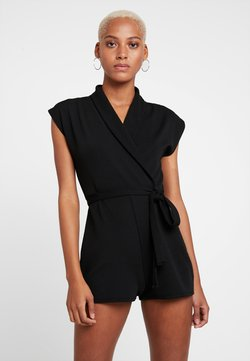 Missguided - LAPEL TIE DETAIL - Combinaison - black