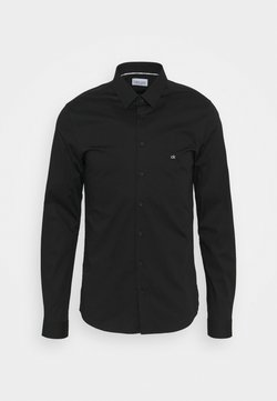 Calvin Klein Tailored - LOGO STRETCH EXTRA SLIM - Businesshemd - black