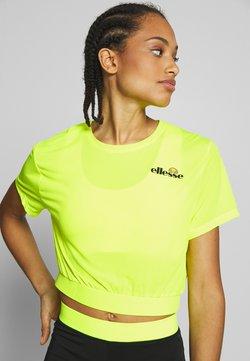 Ellesse - CLUSIO - T-Shirt print - neon yellow
