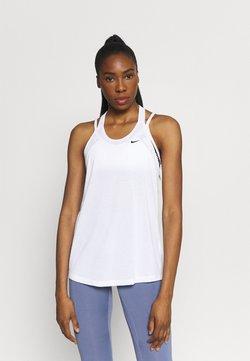 Nike Performance - DRY ELASTIKA TANK - Sports shirt - white/black