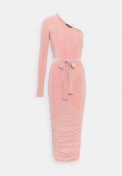 Missguided - ONE SHOULDER SLINKY DRESS - Robe fourreau - blush
