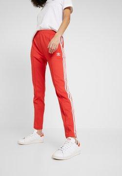 adidas Originals - SUPERSTAR SUPER GIRL ADICOLOR TRACK PANTS - Jogginghose - lush red/white
