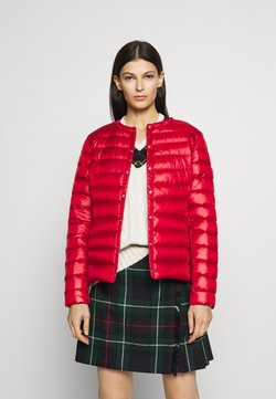 Lauren Ralph Lauren - PEARL SHEEN COLLARLESS PACKABLE - Daunenjacke - red