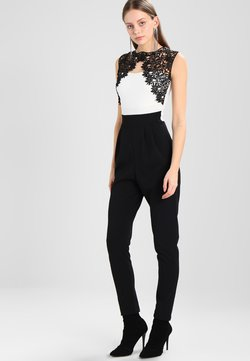 WAL G. - SHOULDER CONTRAST - Jumpsuit - black/white