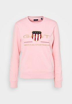GANT - ARCHIVE SHIELD NECK - Sweatshirt - preppy pink
