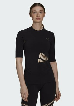 adidas by Stella McCartney - ADIDAS BY STELLA MCCARTNEY TRUESTRENGTH WARP KNIT T-S - T-Shirt print - black