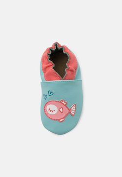 Robeez - FISH IN LOVE - Krabbelschuh - turquoise clair