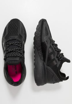 adidas Originals - ZX 2K BOOST - Sneakers laag - core black/shock pink