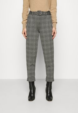Marks & Spencer London - BELTED TROUSER - Chinosy - grey