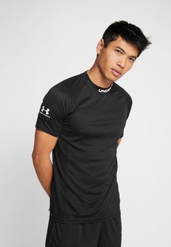 Under Armour - CHALLENGER TRAINING  - T-shirt med print - black/white