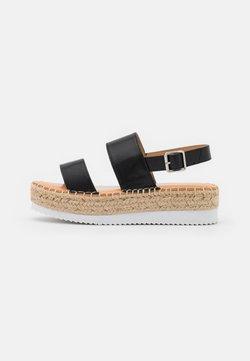 Madden Girl - BOARDWALK - Korkeakorkoiset sandaalit - black paris