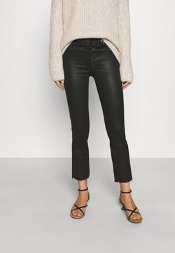 7 for all mankind - THE STRAIGHT CROP COASLIILL - Slim fit jeans - black