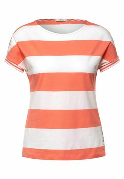 Cecil - STREIFEN MUSTER - T-Shirt print - orange