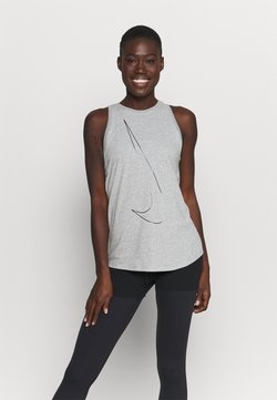 Nike Performance - DRY TANK  YOGA - Funktionsshirt - dark grey heather