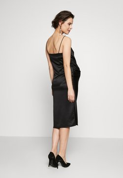 Topshop Maternity - RUCH SLIP DRESS MIDI - Juhlamekko - black