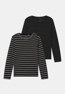 Name it - NMMVILLY SLIM 2 PACK - T-shirt à manches longues - dark sapphire/grey melange