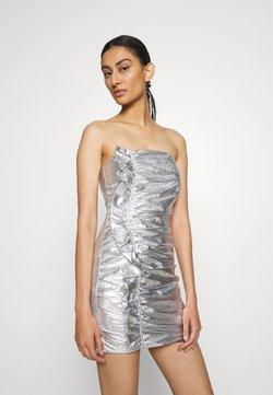 Third Form - DRIFTER FRILL STRAPLESS - Cocktail dress / Party dress - silver