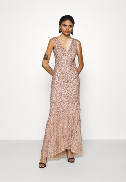 Lace & Beads - FLOSSY MAXI - Occasion wear - taupe