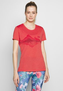 Jack Wolfskin - CROSSTRAIL GRAPHIC - T-Shirt print - tulip red