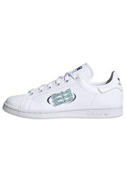 adidas Originals - STAN SMITH UNISEX - Baskets basses - white/team royal blue/clear mint